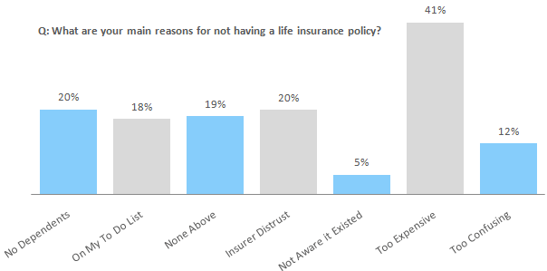 Q: What are your main reasons for not having a life insurance policy?